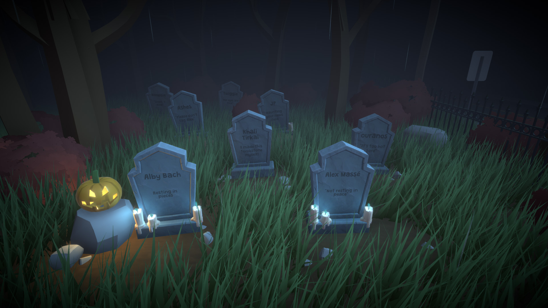 A graveyard with tombstones in Paralives